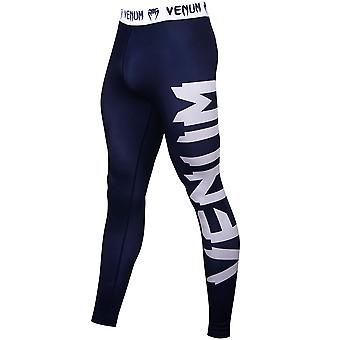 Venum Giant Ultra Light Fit Cut Dry Tech MMA Compression Spats - Navy Blue/White