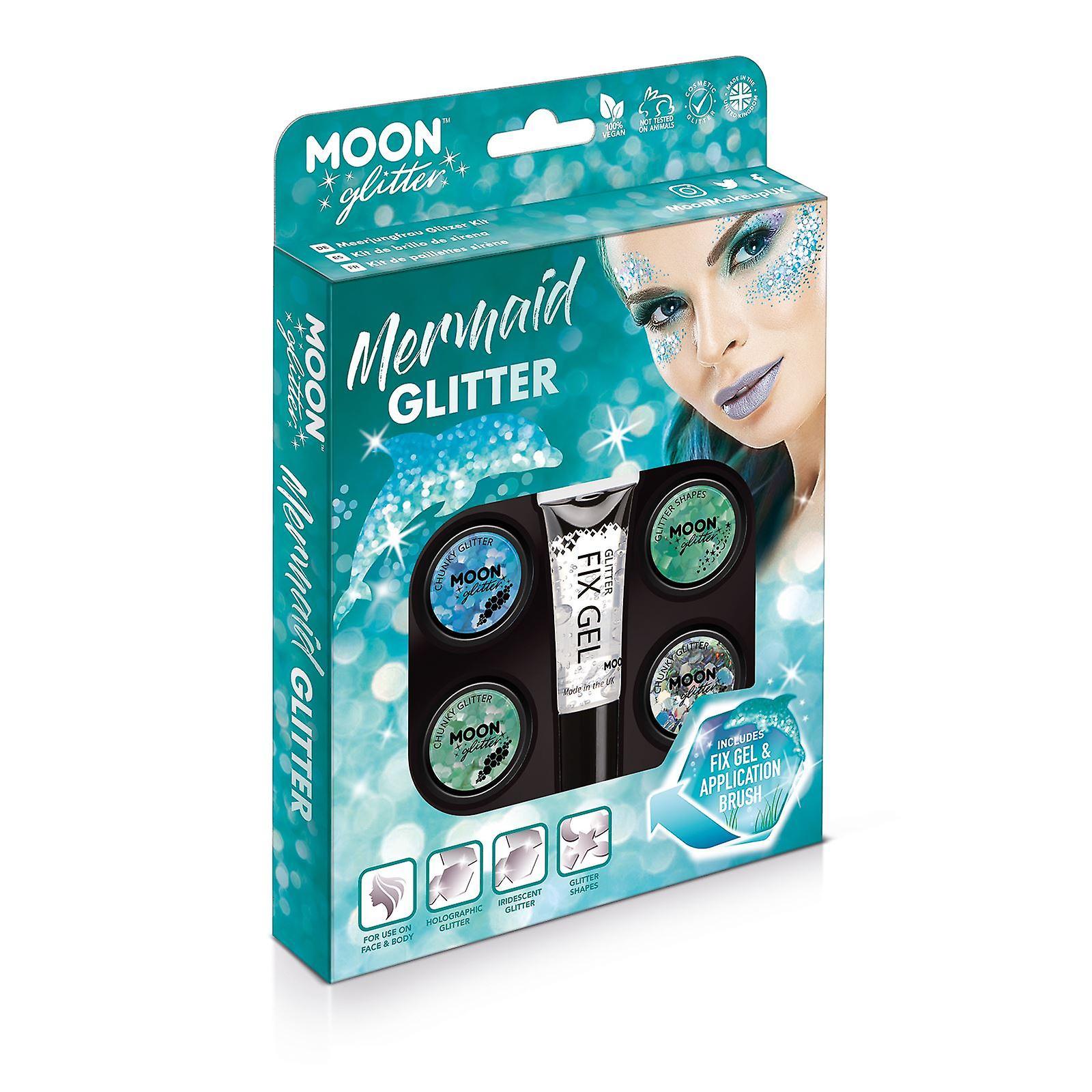 VisageCorpsOnglesCheveux Les GlitterCosmétiques Par Sirène Paillettes 100Pour Et Moon Le Lèvres Kit WYH92IED