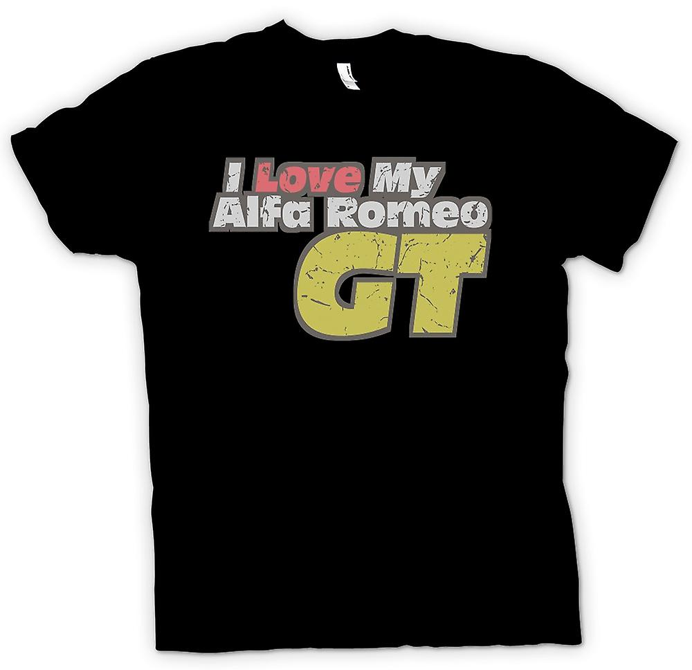 Womens T-shirt - A Love My Alfa Romeo GT - Car Enthusiast