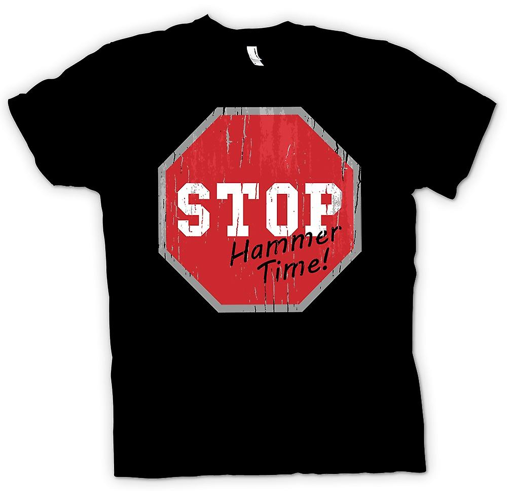 Mens T-shirt - Stop - Hammer Time