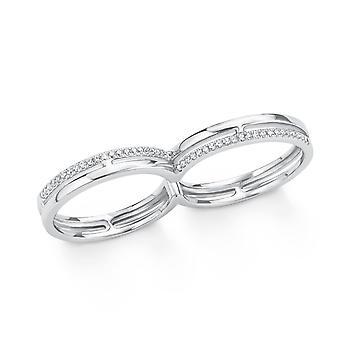 s.Oliver Jewel Damen Ring Silber Zirkonia Doppelring 201510