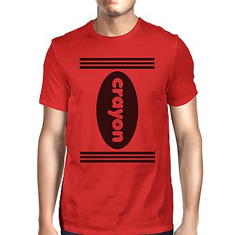 Crayon Mens Red Graphic T-Shirt Round Neck Halloween Costume Shirts