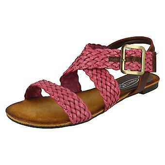 Ladies Spot på Flat snodde X stroppen Sandal F0578