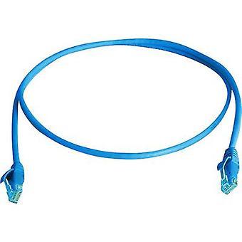 Telegärtner RJ45 Netzwerke Kabel CAT 6 U/UTP 2 m blau schwer entflammbar, halogenfrei