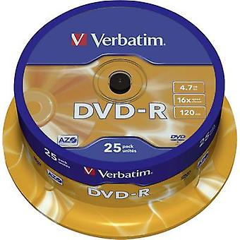 Blank DVD-R 4.7 GB Verbatim 43522 25 pc(s) Spindle