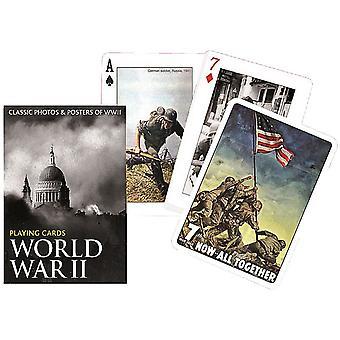 Dem zweiten Weltkrieg Bilder Satz von 52 Spielkarten