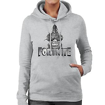 Fornite Silver Knight grå Font Women's Hooded Sweatshirt