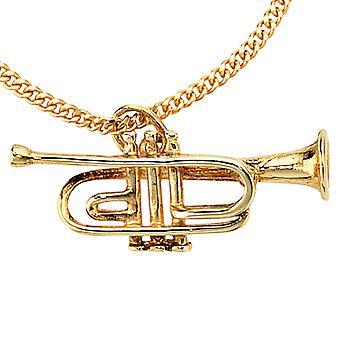 Partidarios de remolque 333/g trompeta trompeta de oro colgante de trompetas de oro