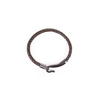 Ted Baker Mens Chewer Clasp Woven Leather Bracelet