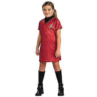Uhura Deluxe Star Trek Movie Red Dress Space Science Fiction Girls Costume S