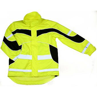 Equisafety Adults Unisex Lightweight Waterproof Hi-Vis Jacket