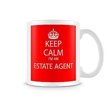 Keep Calm je suis un Mug imprimé Agent immobilier