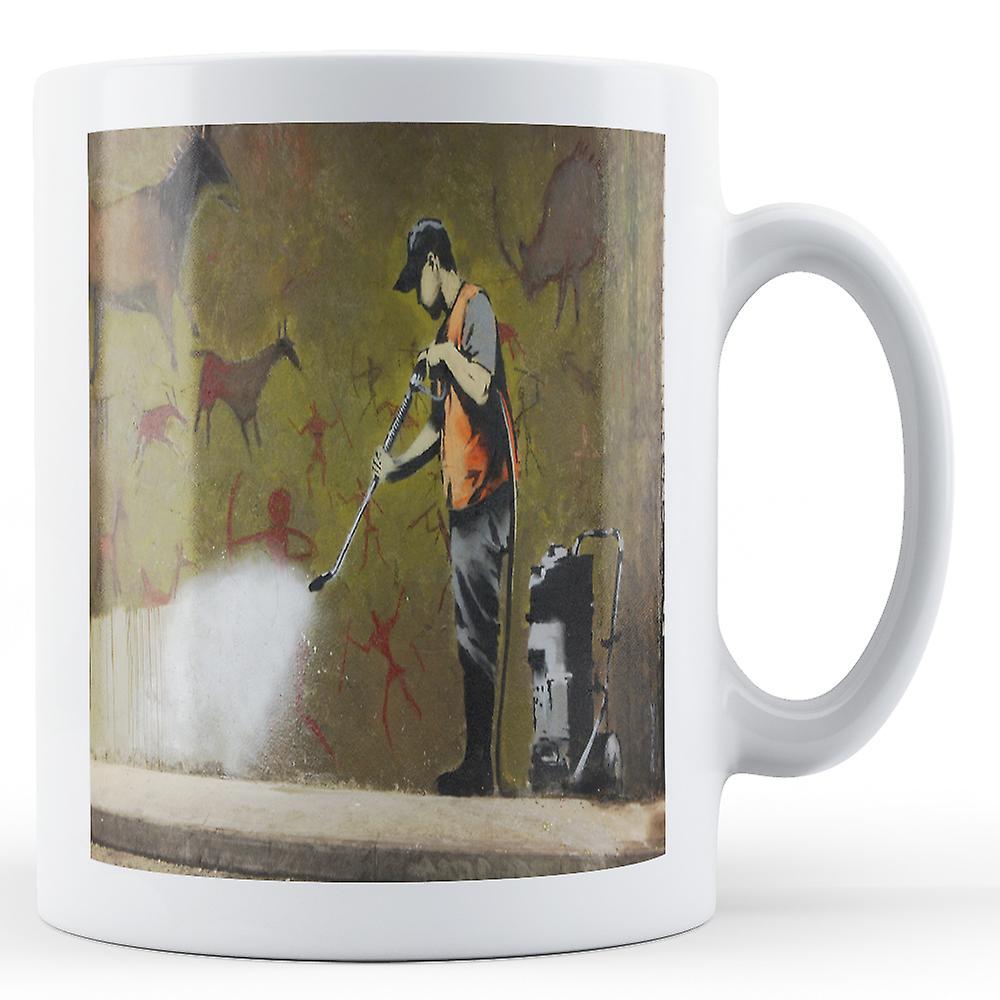 Imprimé Dessins De 2' Mug Doté Cave BanksyOeuvrenbsp;nettoyage rxeWoCdB
