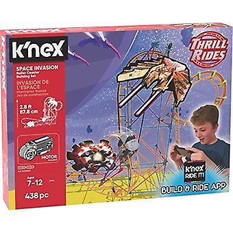 K ' Nex Fahrgeschäfte - Space Invasion Roller Coaster Baukasten mit Fahrt es! App - 438Piece - im Alter von 7 + Baukasten