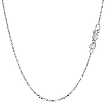 10 k Weißgold Kabel Link Kette Halskette, 1,1 mm