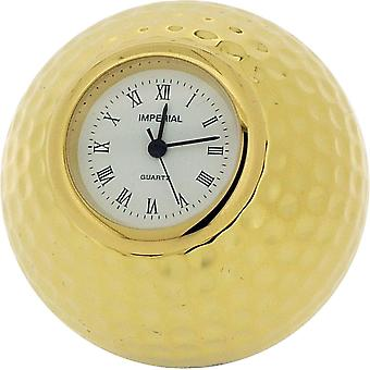 Gift Time Products Golf Ball Miniature Clock - Gold