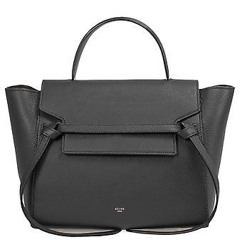 Celine Medium Belt Bag   Black Grained Leather   Gold Hardware