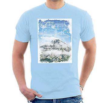 Official Volkswagen Mountain Camper Outline Men's T-Shirt