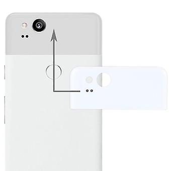 Google pixel 2 reparation täcka bakre glaslinser täcka fall vita nya högkvalitativa