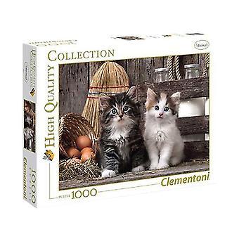 Clementoni Puzzel Lovely Kittens 1000 Stukjes