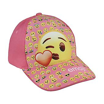 Emoji Kiss Baseball Cap One Size Light Pink