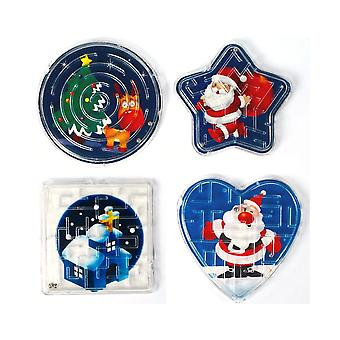 Christmas Maze Puzzle Toy for Kids Party Bags