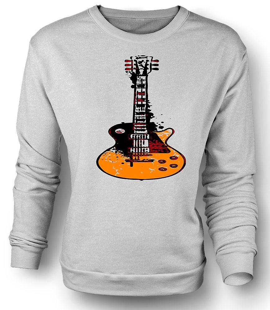 Mens Sweatshirt Gibson Les Paul gitarr Rock Blues - musik