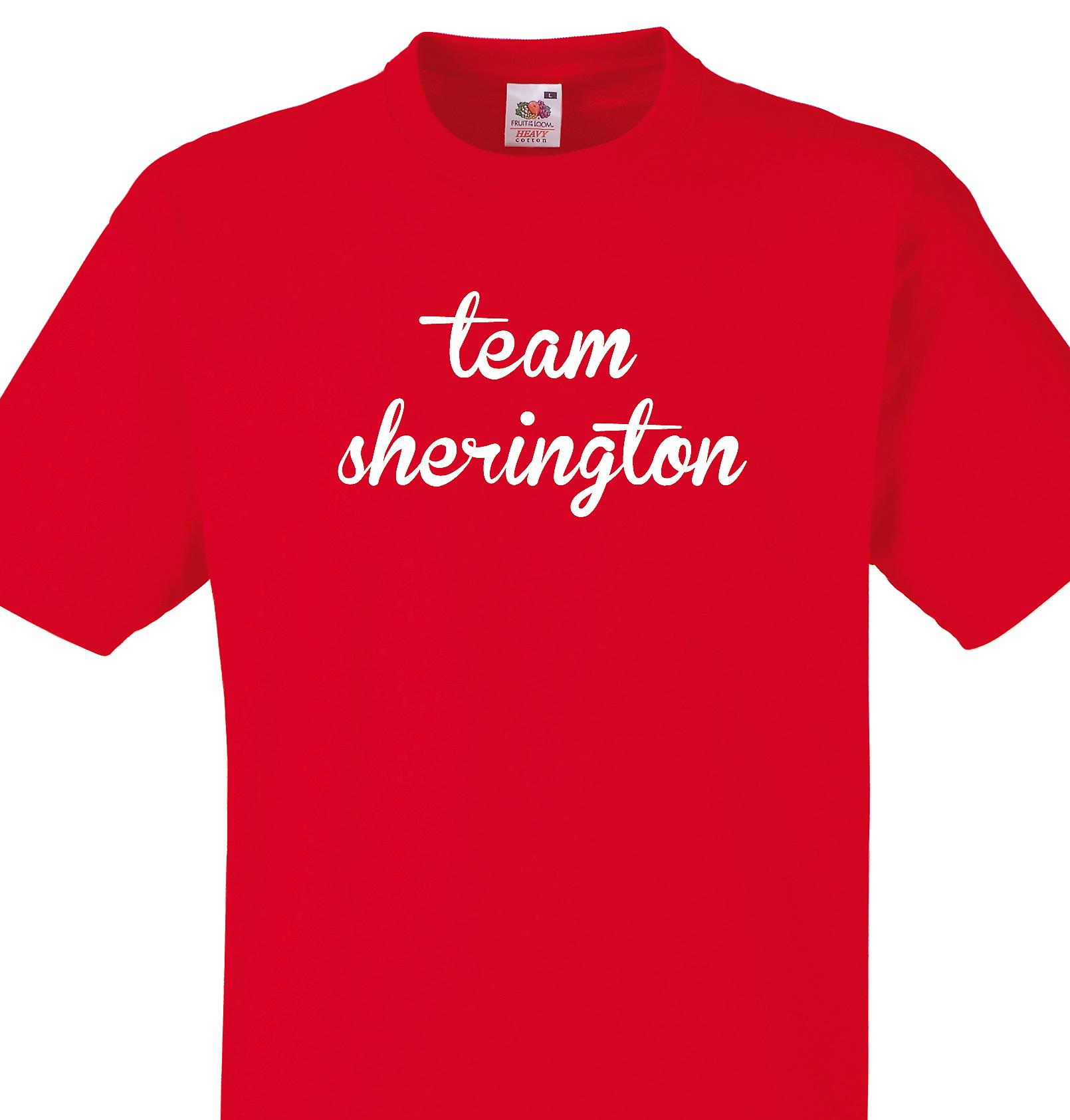 Team Sherington Red T shirt