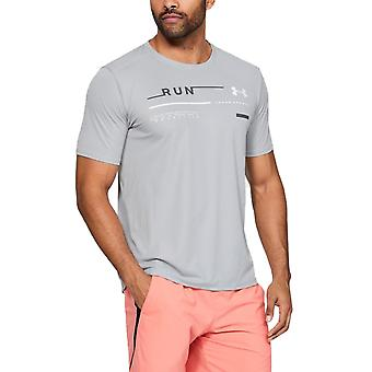 Sotto Armour Mens Run traspirante leggero grafica T-Shirt