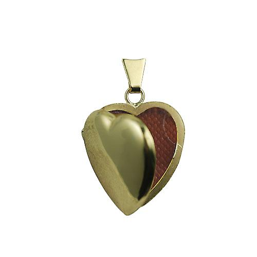 18ct Gold 21x19mm plain heart shaped Locket