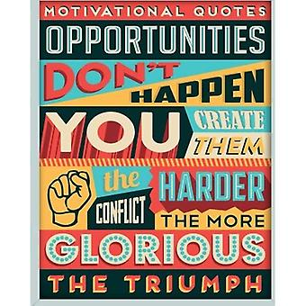 Opportunities Don't Happen Notebook: Motivational Quotes Journal Writing Diary 105 Lined Pages - 8� X 10 Large Notebook