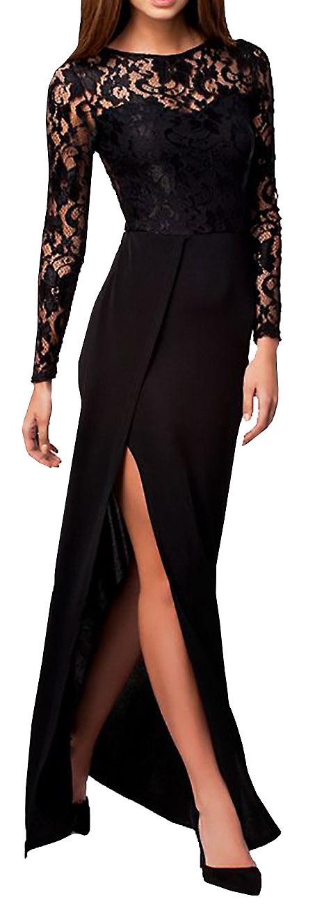 Waooh - Split Long Evening Dress on the side Iord