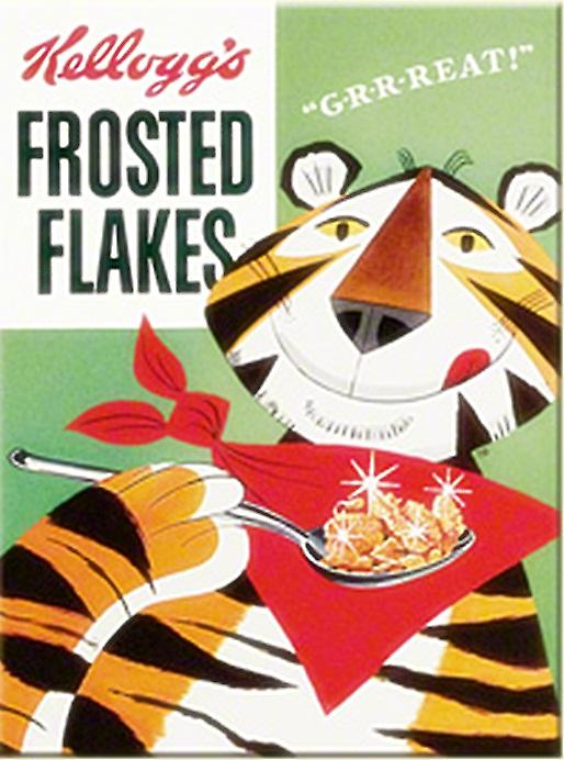Kelloggs Frosted Flakes (old packet) steel fridge magnet   (na)