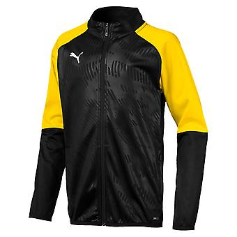 PUMA CUP training poly core children poly jacket black-Cyber yellow