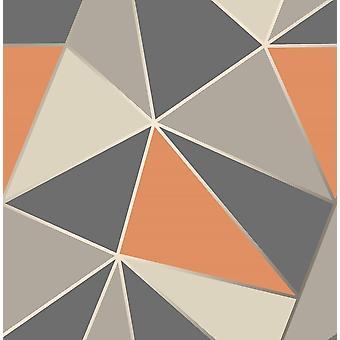 Fine Decor Apex Geometric Wallpaper Luxury Heavyweight Metallic Modern