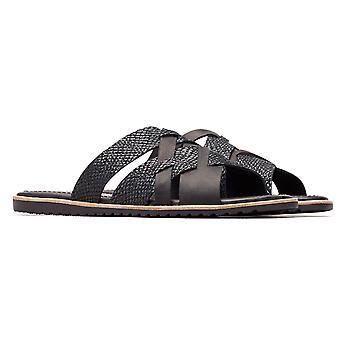 Womens Sorel Ella Slide Crux orm hud öppen tå utskuren sandaler av läder