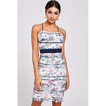 Paper Dolls Solon Floral-Print Lace Dress