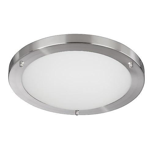 Searchlight 10633SS Modern Bathroom Flush Ceiling Light 28W 2D Low Energy