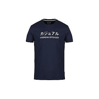 Weekend Offender Japan Navy T-shirt