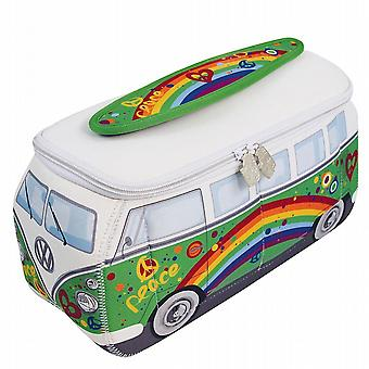 Official VW Camper Van Waterproof Large Ladies Toiletry Wash Bag - Green