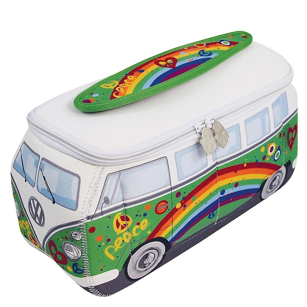 Official VW Camper Van Waterproof Large Ladies Toiletry Wash Bag - Green