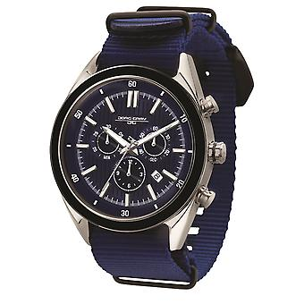 JG6900-22N Mens Watch Chrono Swiss Movement With Blue Strap