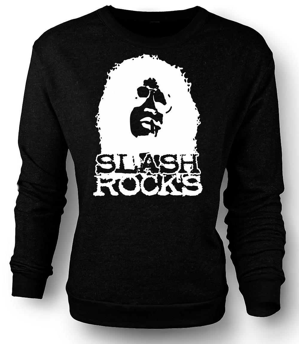 Mens Sweatshirt Slash gitarr Rock - Guns n Roses