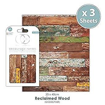 Craft Consortium Reclaimed Wood Decoupage Papers (CCDECP328)