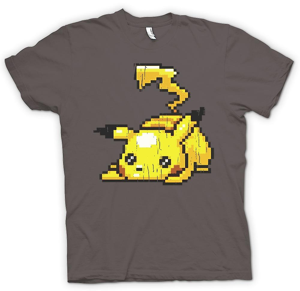Womens T-shirt - Pikachu - Pokeman Pixel Gamer