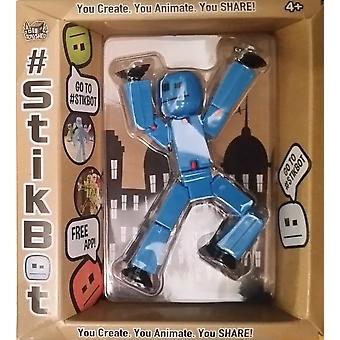 Stikbot Figure Blue Solid Colour