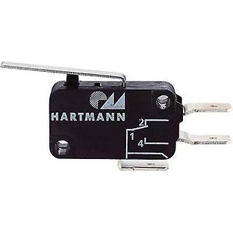 Microswitch 250 Vac 16 A 1 x On/(Off) Hartmann 04G01B04B01A momentary 1 pc(s)