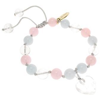 Lola Rose Millie Bracelet Ice Blue Quartzite  and  Rock Crystal