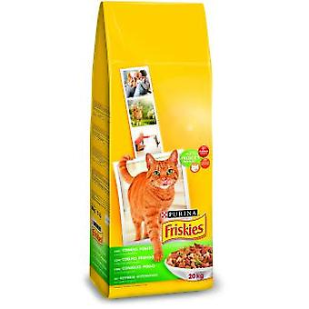 Friskies Adult with Rabbit, Chicken and Vegetables (Cats , Cat Food , Dry Food)