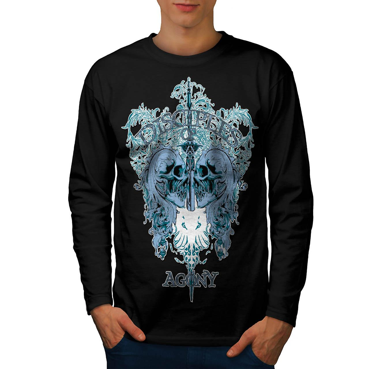Disciples Of Agony Follow Lead Men Black Long Sleeve T-shirt | Wellcoda